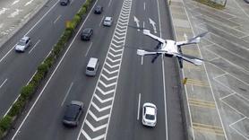 Trafik yoğunluğuna  drone ve helikopterli denetim