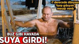 Putin buz gibi havada göle girdi!