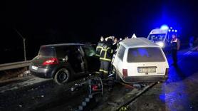 Ölüm yolunda feci kaza... İbre 130 kilometrede takılı kaldı