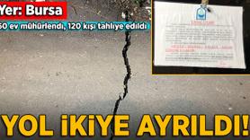 Bursa'da toprak kayması: 60 ev mühürlendi, 120 kişi tahliye edildi