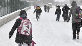 Kars ve Çorum'da kar nedeniyle okullar bir gün tatil