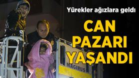 Ankara'da çıkan yangında adeta can pazarı yaşandı
