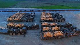 Zırhlı araçlar Hatay'da... Afrin'e destek için geldiler