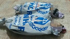 Yürek burkan görüntü... BM çuvalları masum çocukların kefeni oldu