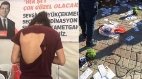 İstanbul'da CHP'nin seçim çadırına saldırı