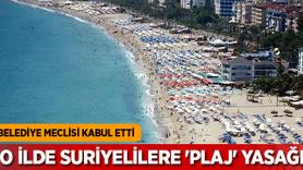 O ilde Suriyelilere 'plaj' yasağı