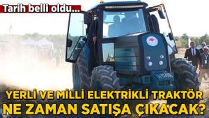 Yerli ve milli elektrikli traktör görücüye çıktı