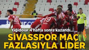4 hafta sonra kazanan Sivasspor yeniden lider
