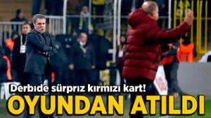 Galatasaray derbisinde Ersun Yanal kırmızı kart gördü