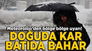 Doğu için kar, Karadeniz için yağmur uyarısı