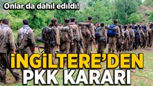 İngiltere'den PKK kararı: PKK yasağına TAK ve HPG de dahil ediliyor
