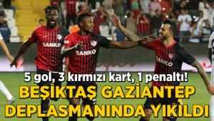 5 gol, 3 kırmızı kart, 1 penaltı! Beşiktaş'a Gaziantep'te şok!