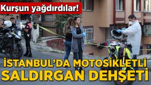 İstanbul'da motosikletli saldırgan dehşeti