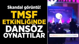 TMSF'nin düzenlediği Barış Pınarı gecesinde dansöz oynatıldı