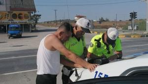 Antalya'da polisin alkollü sürücüyle sabır imtihanı
