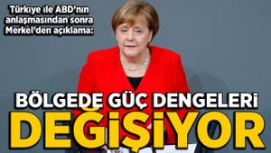 Merkel'den Suriye açıklaması: Güç dengeleri değişiyor