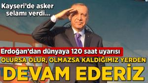 Erdoğan: Verilen sözler tutulmayınca kolları sıvadık