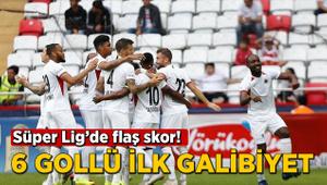 Süper Lig'de flaş skor! 6 gollü ilk galibiyet