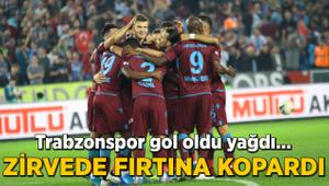 Zirvede Fırtına kopardı... Trabzonspor gol oldu yağdı