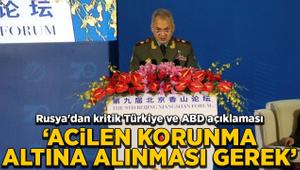 Rusya'dan kritik Türkiye ve ABD açıklaması