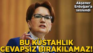 Akşener, Erdoğan'a seslendi: Bu küstahlık cevapsız bırakılamaz