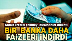 Bir banka daha konut kredisi faiz oranlarını indirdi