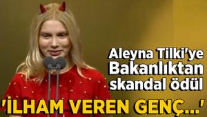 Aleyna Tilki'ye bakanlıktan ödül!