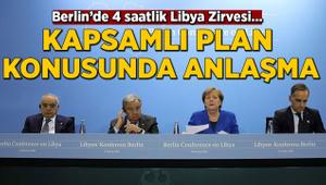 Merkel'den Libya açıklaması: Kapsamlı bir plan konusunda anlaştık
