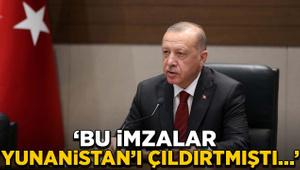 Erdoğan: Bu imzalar Yunanistan'ı çıldırtmıştı...