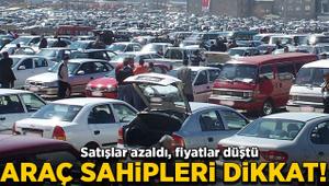 Araç sahiplerine müjde! Satışlar azaldı, fiyatlar düştü