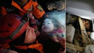 24 saat sonra anne ve kızı sağ çıkarıldı