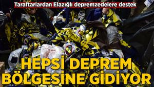 Fenerbahçeli taraftarlardan Elazığlı depremzedelere destek