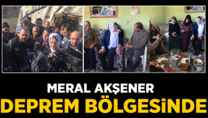Meral Akşener Elazığ'daki deprem bölgesinde