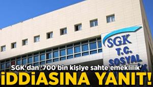 SGK'dan '700 bin kişiye sahte emeklilik' iddiasına yanıt