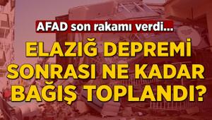 AFAD açıkladı! Elazığ depremi sonrası ne kadar bağış toplandı?