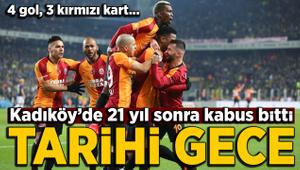 Kadıköy'de tarihi maç! Galatasaray 21 yıl sonra Kadıköy'de kazandı