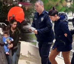 Hırsızlık şüphelisi kadın, bebeğiyle emniyete getirildi!