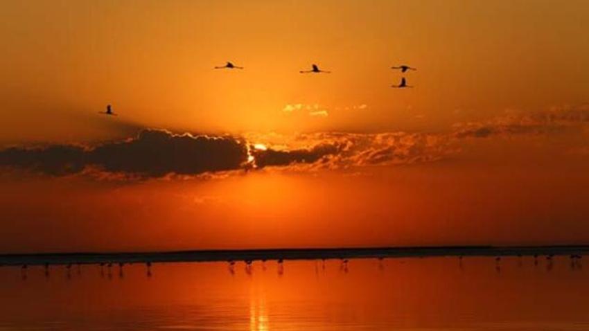 Tuz Gölün'de gün batımı..