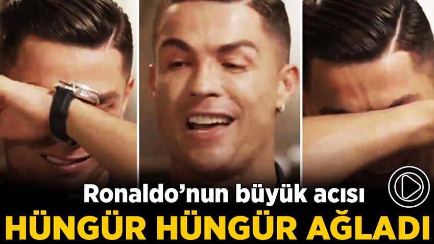 Ronaldo'nun büyük acısı! Hüngür hüngür ağladı...