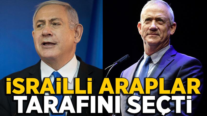 İsrail'deki Araplar'dan Netanyahu'nun rakibine destek