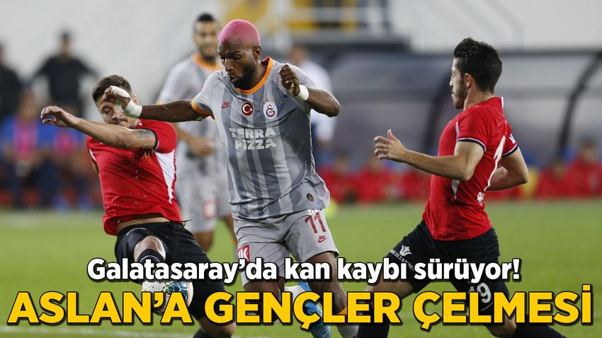 Galatasaray'da kan kaybı sürüyor! Aslan'a Gençler çelmesi