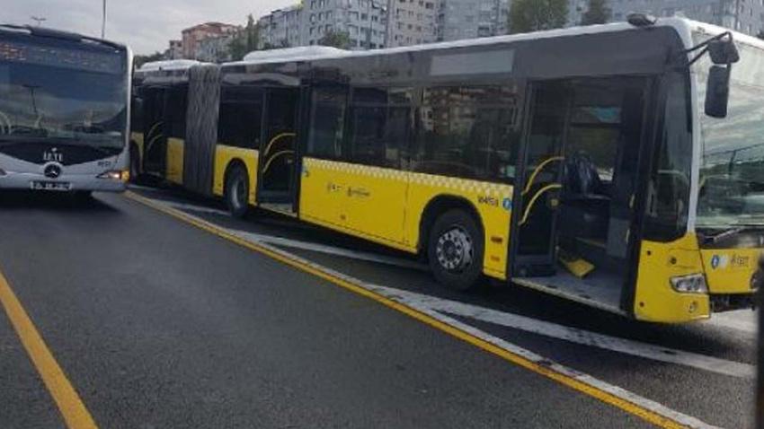 Haliç Köprüsü'nde metrobüs kazası
