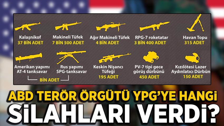 ABD YPG'ye hangi silahları dağıttı?