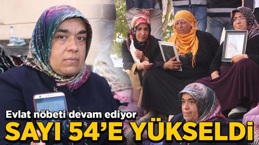HDP önündeki evlat nöbetinde aile sayısı 54'e yükseldi