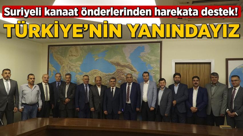 Suriyeli kanaat önderlerinden harekata destek!