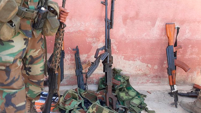 Rasulayn'da YPG/PKK'lı teröristler silahlarını bırakarak kaçtılar