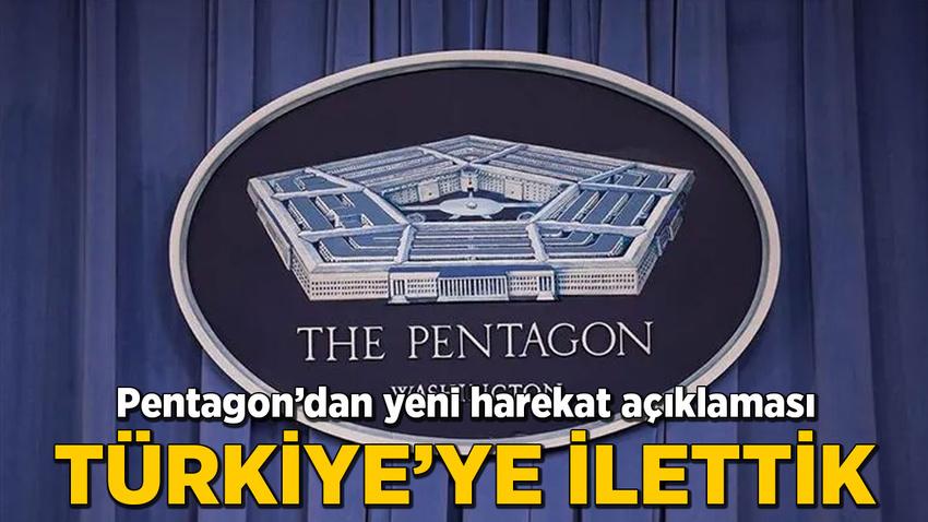 Pentagon'dan yeni harekat açıklaması