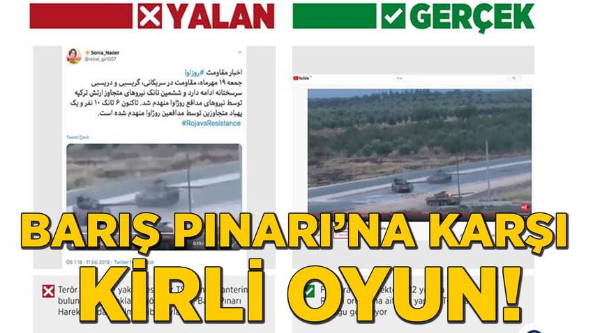 Barış Pınarı'na karşı kirli oyun! TSK'nın envanterinde olmayan tankın görselini kullandılar