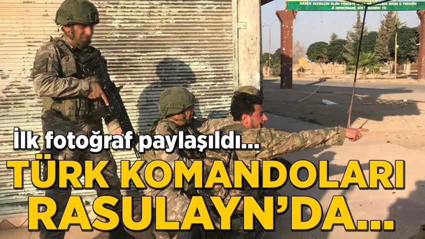 MSB fotoğraf paylaştı... Türk komandoları Rasulayn'da!
