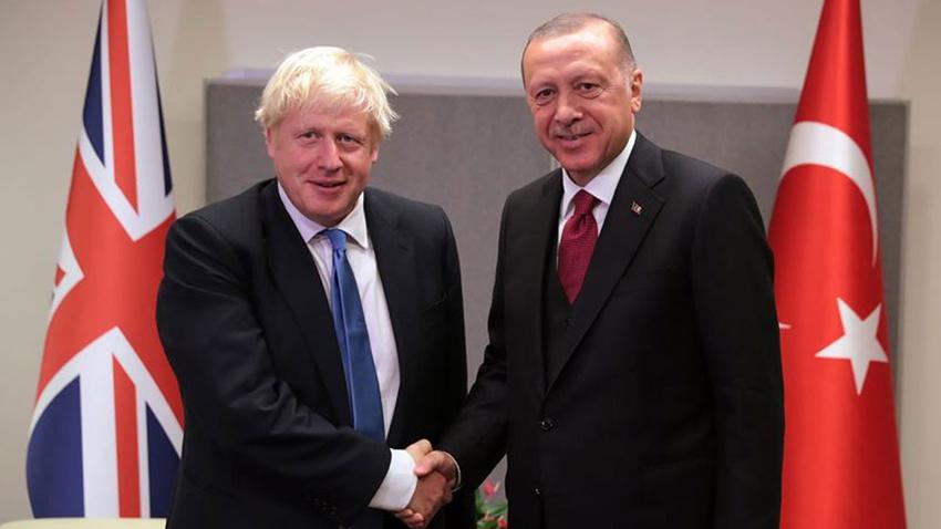 Cumhurbaşkanı Erdoğan Boris Johnson ile telefonda görüştü